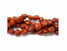 Semi Precious Red Jasper Pebble Gemstone Beads 16 Inch Strand LIMITED