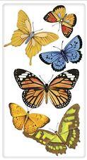 """Flour Sack Kitchen Dish Towel """"Orange Butterflies"""" Mary Lake - Thompson New"""