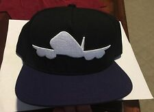 NWT FLY SOCIETY Classic Hat Cap Snapback Purple Black Adjustable