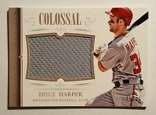 BRYCE HARPER '14 PANINI NATIONAL TREASURES COLOSSAL GAME USED LARGE JERSEY#25/25