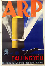 Original poster WW2 ARP by Pat Keely 1938
