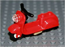Lego City x1 Red Scooter Town Vespa Friends Motor Bike Girl Boy Minifigure NEW
