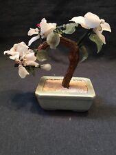 Vidrio/Jade Bonsai árbol oriental Celadon Olla Ornamento muy colorido (ref P251)