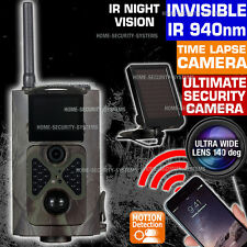 Trail Camera Wireless Solar 3G GSM MMS Security Alarm Home Farm No Spy Hidden