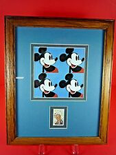 FRAMED MICKEY MOUSE & WALT DISNEY 6 CENT COLLECTORS STAMP