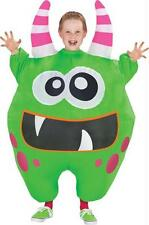 CHILD INFLATABLE GREEN MONSTER SCAREBLOWN ILLUSION FUNNY COSTUME SS55194G