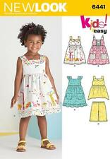NEW LOOK SEWING PATTERN Toddlers' Easy Dresses,Top & Cropped Pants 1/2 - 4 6441