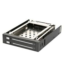 "2.5"" SATA SSD/HDD Mobile Rack with Trayless Hot Swap LED indicator 2 Bay"