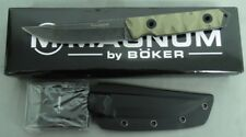BOKER KNIFE 02SC017 MAGNUM SIERRA DELTA DROP FIXED BLADE STONEWASHED NEW IN BOX!