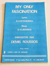 Partition vintage sheet music DEMIS ROUSSOS : My Only Fascination + 1 * 70's