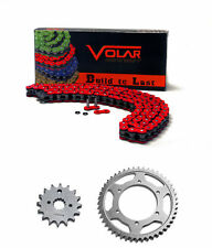 1993-2016 Honda XR650L Chain and Sprocket Kit - Heavy Duty - Red
