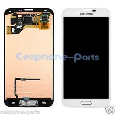 Samsung Galaxy S5 i9600 G900F G900H G900M LCD Screen Digitizer + Home Flex White