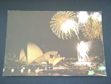 FIREWORKS DISPLAY OVER OPERA HOUSE GRAND OPENING NIGHT POSTCARD