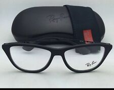 New Ray-Ban RB 7042 5364 Matte Black Authentic Cat Eye Eyeglasses 54mm W/Case