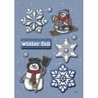 American Traditional Designs WINTER FUN Elevations 3-D Stickers Scrapbooking
