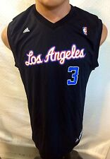 Adidas NBA Jersey Clippers Chris Paul Black Three Stripe sz L
