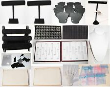 Lot of 30 Jewelry Displays Organizers & Stands for Necklaces, Bracelets & Rings