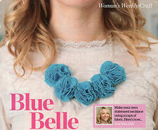 ~ Pull-Out Sewing & Craft Pattern For Statement Fabric Necklace To Make  ~