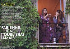 COUPURE DE PRESSE CLIPPING 2011 Clémentine Célarié  (4 pages) & Fabienne Piel