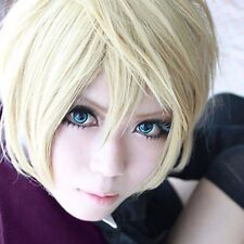 Unisex Charm Blonde Anime Full Wig Short Straight Hair Costume Alois Trancy Wigs