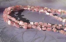Premier Designs Catalina Rose Quartz Nugget 3 Strand Necklace, 18 1/2""