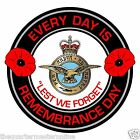 RAF Royal Air Force Remembrance Day Inside Car Window Clear Cling Sticker