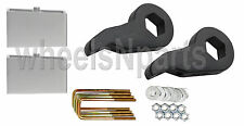 "Lift Kit Chevy Black Torsion Keys 3"" Aluminum Blocks 1988 - 98 6 Lug Truck & SUV"