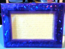 Holographic PURPLE Picture Frame 4x6 Home Decor Kids Room Gift   BF
