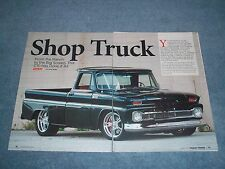 "1965 Chevy C10 Custom Cab Pickup Article ""Shop Truck"" Short Bed Fleetside"