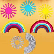 2pcs Sunshine and Rainbow Embossing DIY Scrapbooking Metal Cutting Dies Crafts