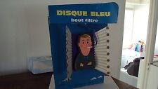 Vieille PUB cartonnée 3D DISQUE BLEU - illustration FIX-MASSEAU