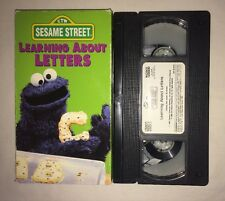 Sesame Street - Learning About Letters (VHS, 1996) COOKIE MONSTER 1986 RARE