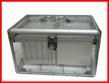 200 CD DVD TRANSPARENT ALUMINUM STORAGE CASE ORGANIZER WITH SLEEVE HOLD 200 DISC