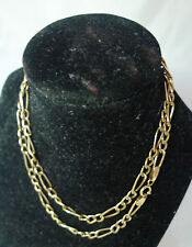 Vintage 9ct Yellow Gold Chain Necklace 2.8g 47cm x 0.3cm