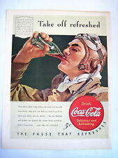 Fantastic 1940 Advertising Print for Coca-Cola and Ford Motor Company *