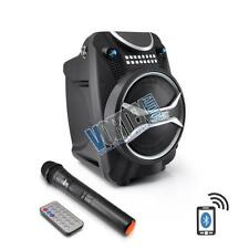 Pyle PWMAB210BK Boom Rock Bluetooth Karaoke Speaker and Recording System Black
