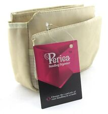 Periea Handbag Organiser, Insert, Liner 9 Pockets - Light Brown - Tegan