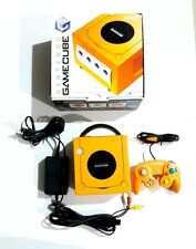 Orange Nintendo Gamecube Console W/Controller Box Adaptor Cable Tested Works