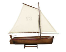 Authentic Models Gaff Rigged Wooden Sailing Boat Yacht Model Honey 45cm
