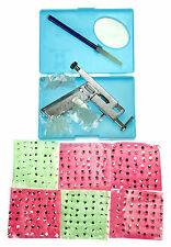 Steel Ear Nose Navel Body Piercing Gun + 3 Kinds 294 Studs 147 pairs