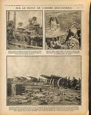 British Army Tommies Bataille de Monchy Artillery Offensive de l'Aisne 1917 WWI