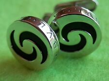 Bvlgari Bulgari Optical Illusion Silver/Black Elegant Cufflinks Barely Worn