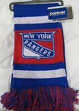 """NWT NHL 2012 TEAM STRIPE ACRYLIC SCARF 64""""x7"""" - NEW YORK RANGERS"""