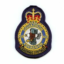 RCAF CAF Canadian 423 Squadron Heraldic Colour Crest Patch