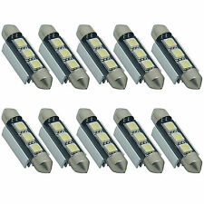10X 39mm CANBUS Error Free 3 LED 5050 SMD 6418 C5W License Plate Dome Light Bulb
