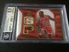 2007-08 NBA UD SP Rookie Threads BULLS LOGO Patch MICHAEL JORDAN BGS 8.5