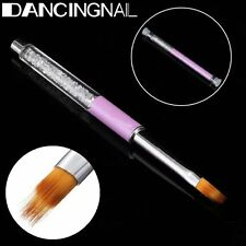 Pro UV Gel Nail Brush Rhinestone Handle Nylon Hair Ombre Brush Nail Art Tools