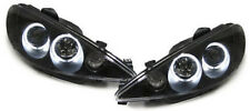 Black clear finish CCFL angel eye headlights for Peugeot 206 CC from 1998