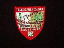 BOY SCOUT   TOLEDO A.C.  HIKING TRAILS  30 HOURS SERVICE AWARD       OHIO