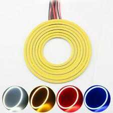 2x 120MM Auto LED Angel Eye Universal Halo Ring Marker Light Various Color Light
